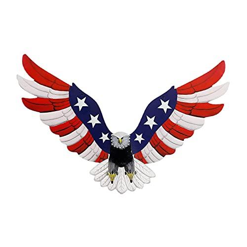 American Glory Patriotic Rot Weiß Blau Weißkopfseeadler Große Wandstatue Haus Dekoration 29 x 17 cm