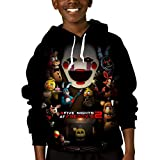 Five Night-s at Fredd-ys Horror Game Kids Hoodie Printed Warm Youth Pullover,Fleece Sweatshirt for Boys Girls