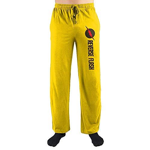 DC Comics The Flash Reverse Colors Sleep Pants-Medium Yellow