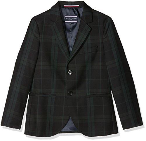 Tommy Hilfiger Jungen THKB Holiday MIK Blackwatch Blazer Jacke, Grün (Evergreen 372), 164 (Herstellergröße: 14)