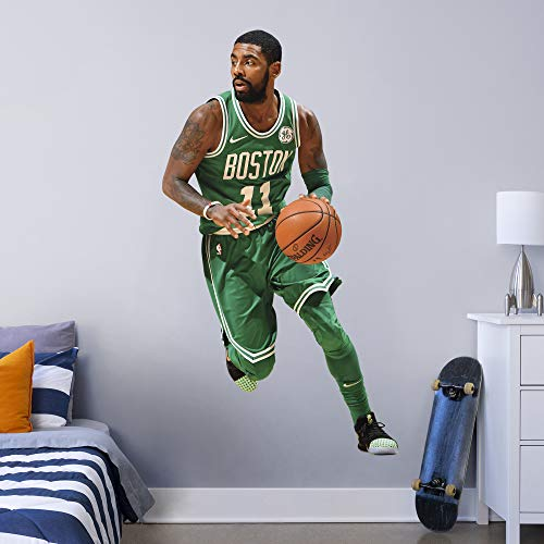 Fathead NBA Boston Celtics Kyrie Irving Kyrie Irving- Officially Licensed Removable Wall Decal, Multicolor, Life-Size - 1900-00305-002