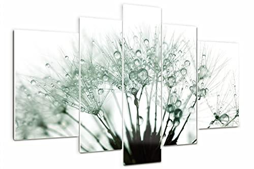 Tulup Cuadro de Cristal 170x100cm Impresión de 5 Piezas Pintura sobre Vidrio...