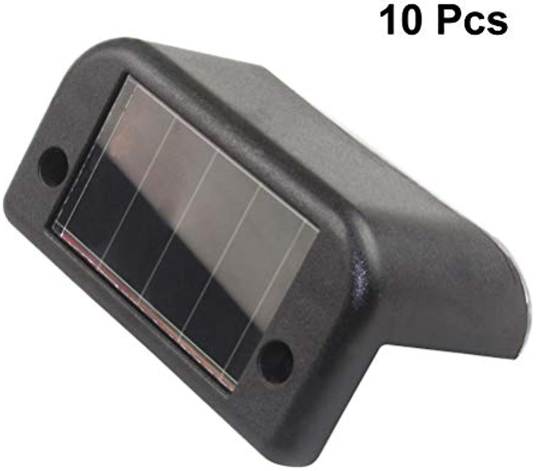10 STüCKE Wasserdichte Solar Schritt Lichter LED Treppenleuchten Deck Gelnder Lichter Outdoor Security Beleuchtung für Hof Zaun Patio Pfade Gehweg