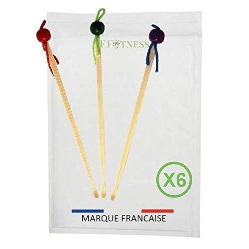 Lot de 3 à 18 oriculis bambou cure oreille la vable et réutilisable à vie - 100% biodégradable alternative écologique zéro déchets (X6)