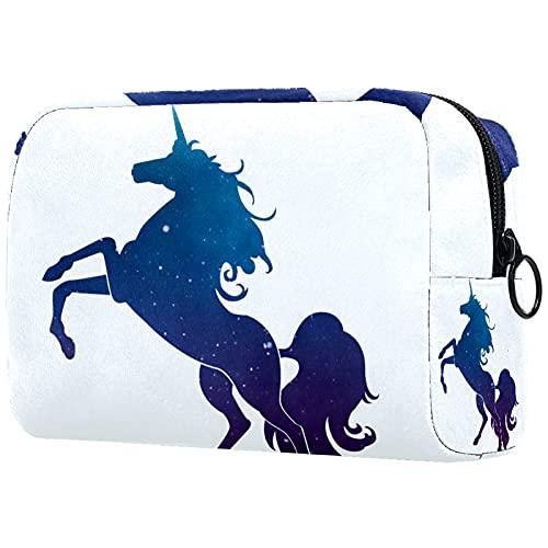 FURINKAZAN Bolsa de maquillaje de viaje de unicornio Galay para artículos de tocador, bolsa de maquillaje para hombres y mujeres