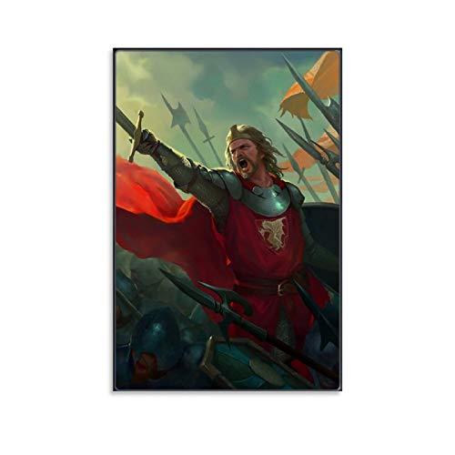 DRAGON VINES Póster sobre lienzo para niños, diseño de rey Arturo de Camelot, caballeros de la mesa redonda, 30 x 45 cm
