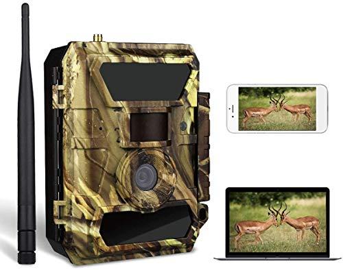 WildHD 3G Wildkamera 3G Überwachungskamera Jagdkamera (3G GPRS GSM) mit FOTOAPP-0,4s Auslösezeit- Fotofalle für Wildtierjagd und Home Security