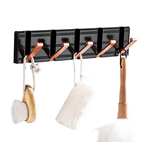STROG Perchero de pared con ganchos para colgar ropa de metal, para dormitorio, baño, con varios ganchos para toallas, abrigos, sombreros, ropa y batas
