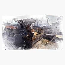 NakNak Counter Global Offensive Map Watercolour Strike Go Cs Watercolor Csgo Cbble | Impressive and Trendy Poster Print De...