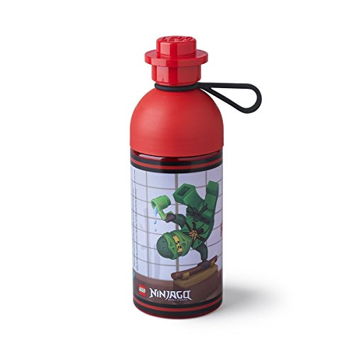 ROOM Copenhagen 40421733 LEGO Ninjago Hydration Bottle 17 oz, Transparent Red
