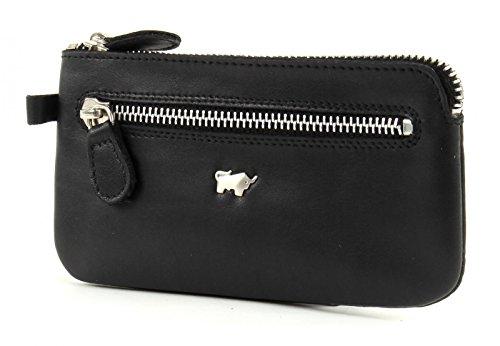 Braun Büffel Golf Schlüsseletui Leder 13,5 cm, Schwarz, Einheitsgröße
