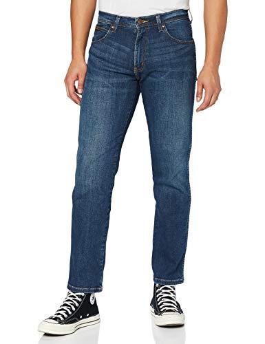 Wrangler Arizona Denim Pants Pantalones, Burnt Blue, 30W / 32L para Hombre