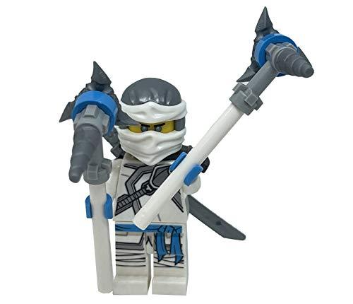 LEGO Secretos Ninjago de la Spinjitzu Prohibido: Zane Minifig con armas