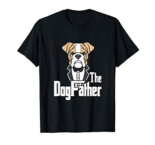 Mens The Dogfather Frenchie Bulldog Dogs Daddy Father's Day T-Shirt