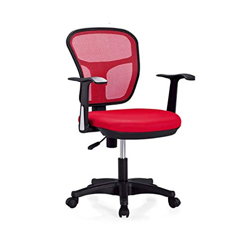 Chair Office Chair Desk Chair Black Ergonomic Swivel Mesh Task Chair High Back Padded Desk Chair,Office Swivel Desk Chair with Torsion Control,3 Colors (Color : Red)