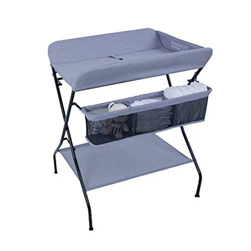 LZQBD Family Care/mit großem Stauraum Folding Windel-Station Kleinkind Badestation for Gesundheit Baby Care -Tisch, tragbares Dresser Kleinkind 0-3 Jahre alt (Color : B)