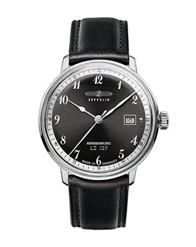 Zeppelin Watches 7046-2 - Reloj analógico de Cuarzo para Hombre con Correa de Piel, Color...