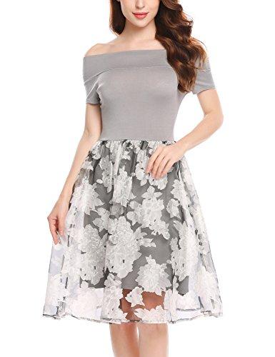 Meaneor jurk korte mouwen zomerjurk dames kanten lange bruidsmeisjesjurk feestelijk vrije tijd elegant chiffon jurk
