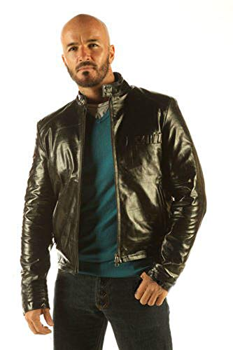 mens full grain leather jacket