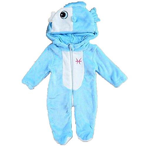 OHmais Bébé Fille garçon Unisexe Grenouillère Costume Deguisement Combinaison Pyjamas Hiver Poissons