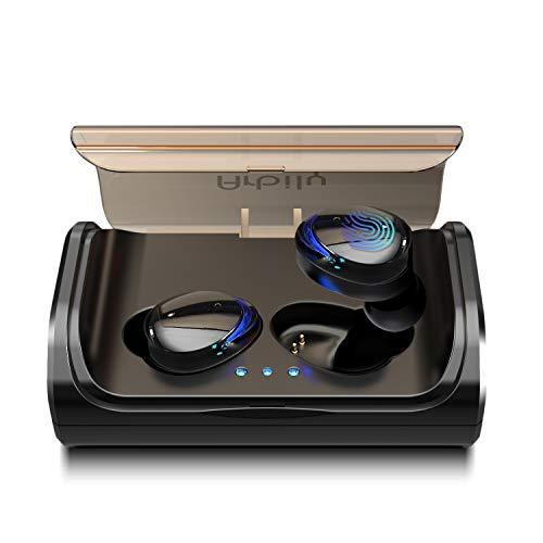 Arbily Auriculares Bluetooth, Auriculares Inalámbricos Bluetooth 5.0 Estéreo Hi-Fi Sonido IPX7 Resistentes al Agua, 90 Horas Autonomía 3000mAH Estuche de Carga para la Mayoría de Móviles (Luz Azul)