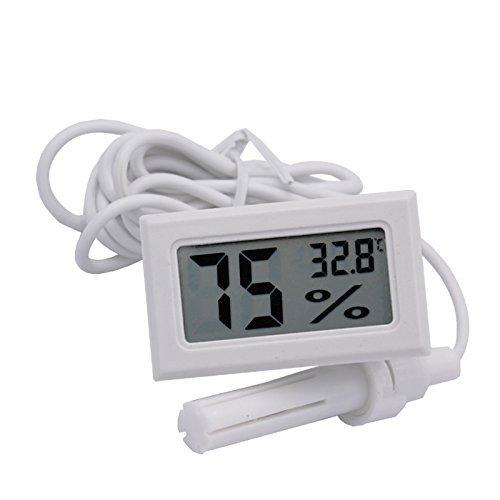 -50~70°c 10% ~ 99% RH LCD Digital Thermometer Hygrometer Temperatur Luftfeuchtigkeit Meter für Brutautomat Aquarium Reptile Gewächshaus Changlesu (weiß)
