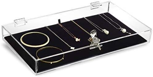 MOOCA Acrylic Rectangular Marketing Holder Locking Security Showcase Safe Box Display Tray Perfect product image