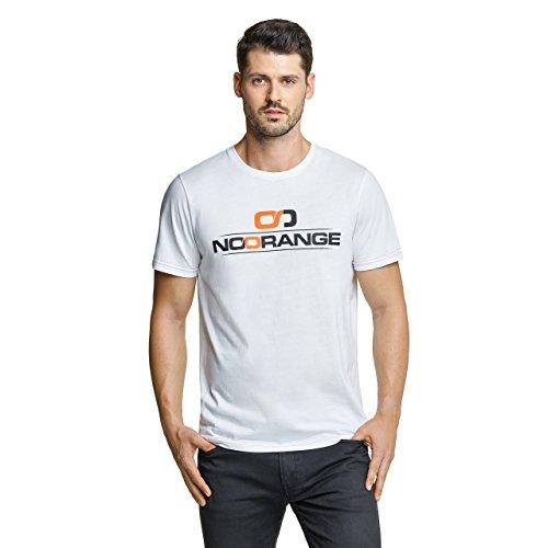 NoOrange Męski Noorange męski T-shirt biały, sportowa koszulka z krótkim rękawem z dużą zawartością bawełny T-shirt biały biały XXL