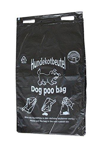Hundekotbeutel - ÖKO - schwarz bedruckt weiß - abreissbar - 20 x 32 cm (400 Stück)