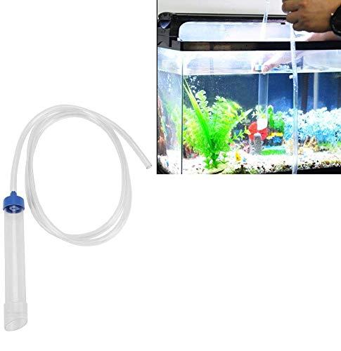 Waterfilter voor aquarium, handmatig, waterwissel, anti-ghiaia, waterfilter sifon, gereedschap voor de overdracht van vloeistoffen uit pvc-pomp voor het reinigen van het leven in het zand