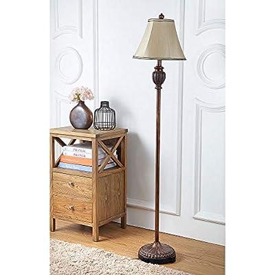 Safavieh Lighting Collection Gwendolyn Gold 61-inch Floor Lamp
