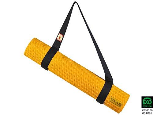 Chin Mudra Sangle de Transport 2 en 1 pour Tapis de Yoga - 100% Coton Bio - Chocolat