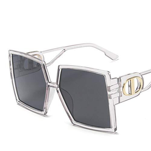 SCAYK 2021 Gafas de Sol de Gran tamaño para Mujer de Lujo de Lujo Nuevo diseñador gradiente de Sol Gafas de Sol Grande Marco Vintage Eyewear uv400 Gafas de Sol Gafas de Ojos Moda