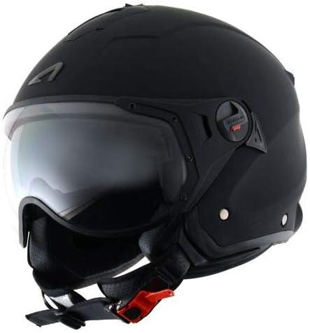 Astone Helmets - MINIJET S SPORT monocolor - Casque jet compact - Casque de moto look sport - Casque de scooter mixte - Casque en polycarbonate - Matt black XXL