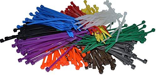 Kabelbinder 1000 Stück 2,5X100 mm farbig bunt Polyamid 6.6 Industriequalität