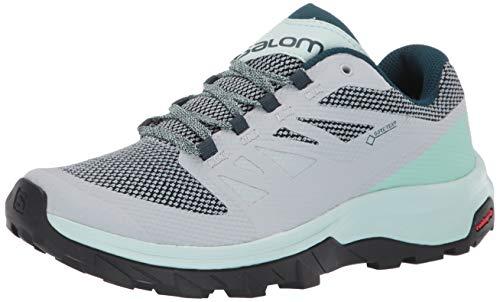 Salomon Damen Shoes Outline GTX Wanderschuhe, Grau (Perlblau/Eisiger Morgen/Reflektierender Teich), 39 1/3 EU