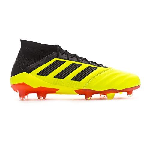 adidas Predator 18.1 FG, Zapatillas de Fútbol para Hombre, Amarillo (Syello/Cblack/Solred Syello/Cblack/Solred), 48 EU