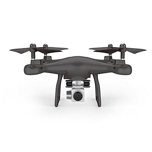 LBAFS Drone X10 con Videocamera HD Video Live Altitude Hold WiFi FPV RC Quadcopter One Key Ritorno Traiettoria Volo App Mobile Giocattolo di Controllo di Volo,Black