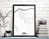 MG global Vail Colorado CO USA Map Poster Black White