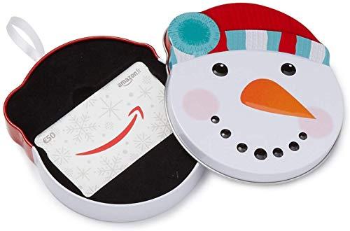Carte cadeau Amazon.fr - €50 - Dans un coffret Bonhomme de neige tout sourire