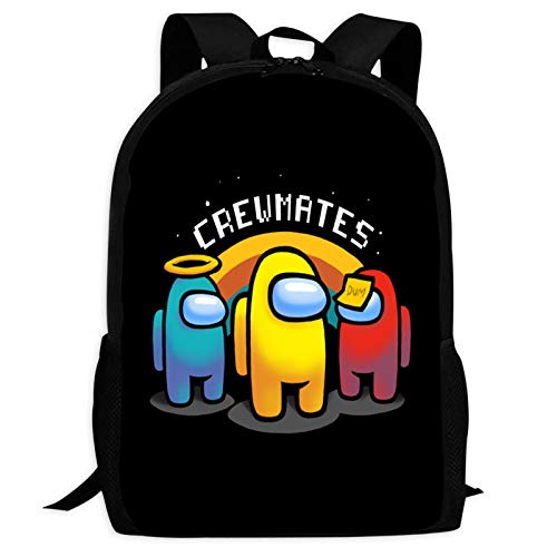 Among Us Crewmate Backpack Lightweight School Travel Bags Waterproof Shoulder Backpacks for Boys Girls