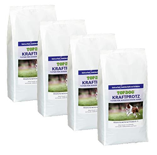 Top Dog Kraftprotz - Adult-Trockenfutter - ohne Zusatz von Getreide - Futter für ausgewachsene Hunde (4X 2,5 KG)