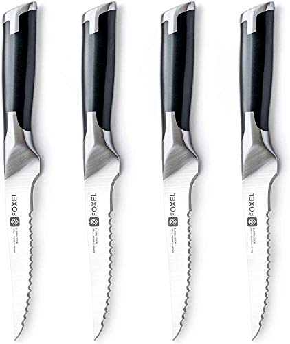 Steak Knives Knife Set of 4, 8, or 12 - Smooth Cut Serrated...