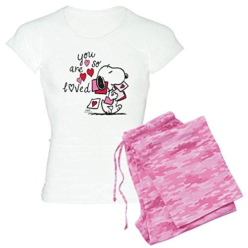 CafePress Damen PJs Snoopy - You Are So Loved - Pink - Small