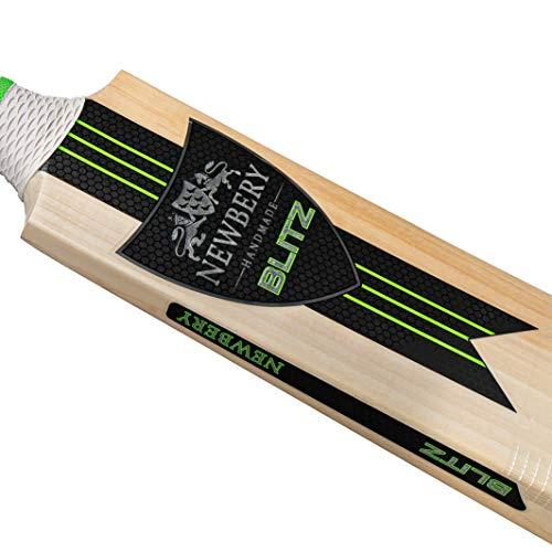 NEWBERY Unisex Youth Blitz Cricket Bat BlueGreen 4