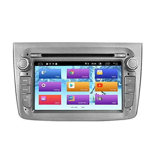 ZLTOOPAI Android 10 Autoradio per Alfa Romeo Mito dal 2008 in poi Navigazione automatica GPS Audio Unità singola testa stereo con schermo IPS DSP Wifi OBD DVR DAB + (grigio)