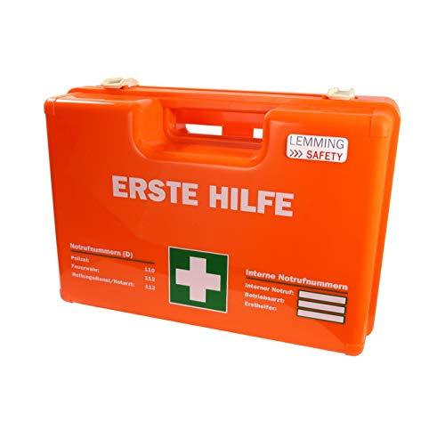 Lemming Erste-Hilfe-Koffer Leuchtorange (Größe M - leer) - Betriebsverbandkasten Verbandkoffer