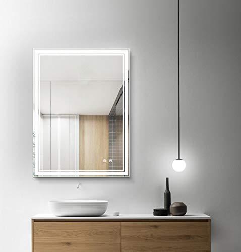 FOMAYKO 24x32 inch Bathroom Mirror Horizontal/Vertical Anti-Fog Wall Mounted Makeup Mirror with -
