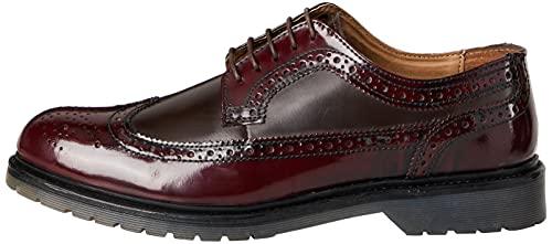 find. Zapato Piel Brogue con Calados para Hombre, Rojo (Burgundy), 39/40 EU