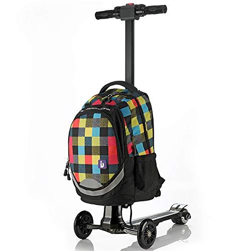 XLY Bagage Scooter, Opvouwbare Rolling Koffer Trolley, Reizen Achterwielen Skateboard, Reizen Opbergtas Draagtas Op Airport Outdoor Bagage